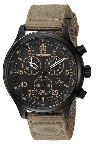 Timex chronograph with black face