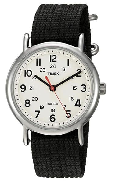 Timex watch with white face