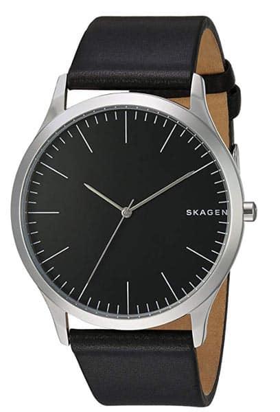 A black skagen watch