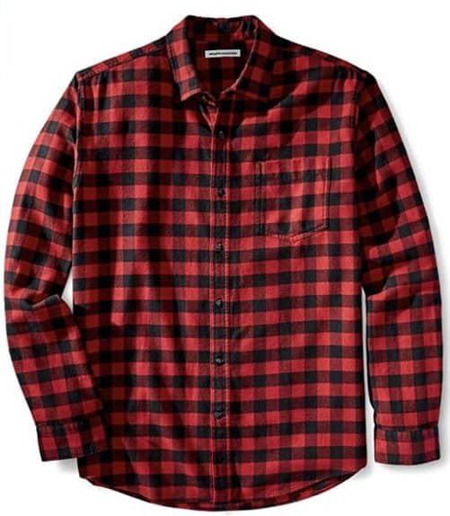 A red flannel shirt