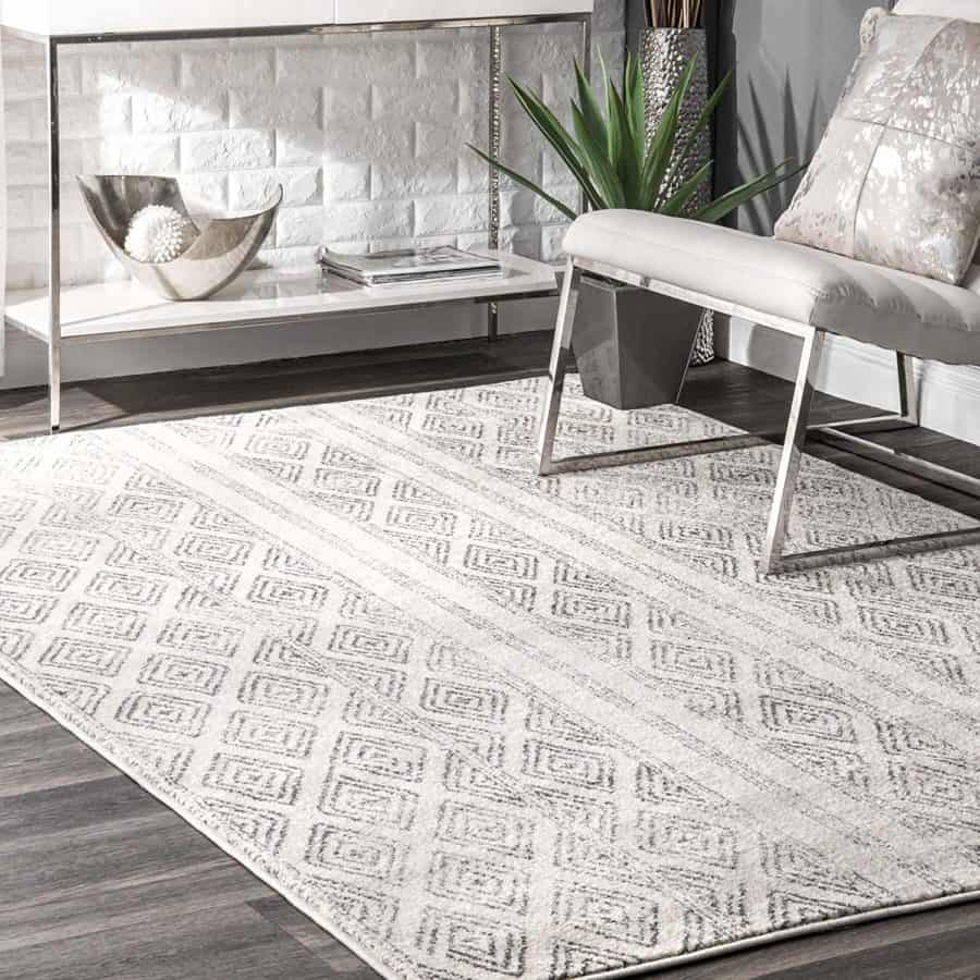 "Image of nuLOOM RZBD40A Sarina Diamonds Area Rug, 5' x 7' 5"", Grey"