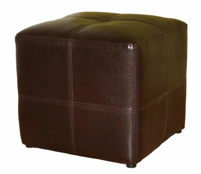Image of Baxton Studio Nox Brown Leather Ottoman