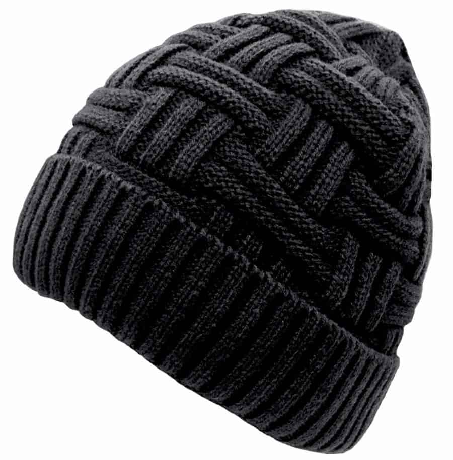 Image of Loritta Mens Winter Warm Knitting Hats Wool Baggy Slouchy Beanie Hat Skull Cap