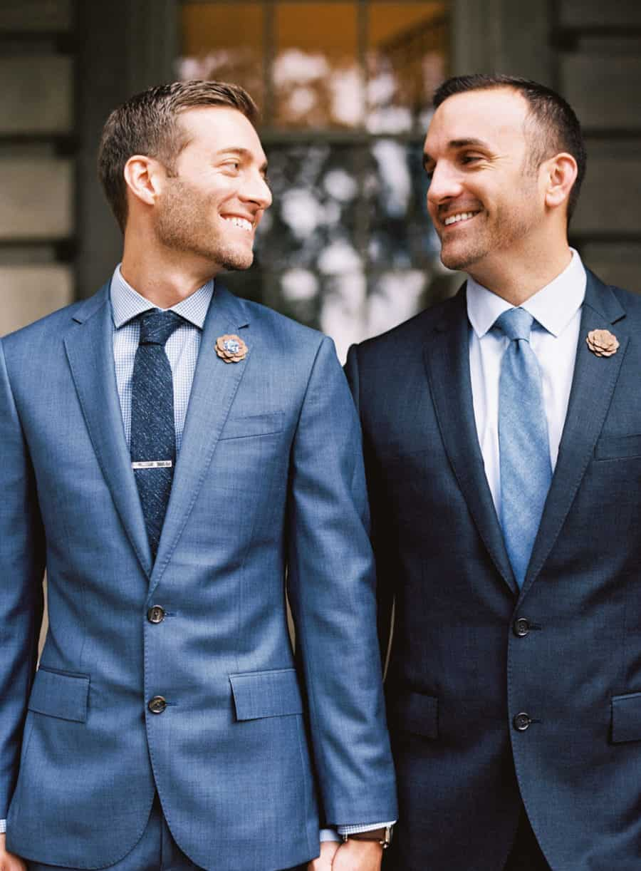 suit colors for wedding - blue