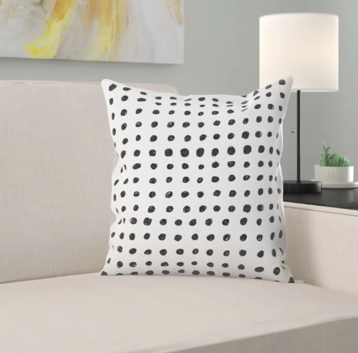 Image of Scribble Dots Throw Pillow