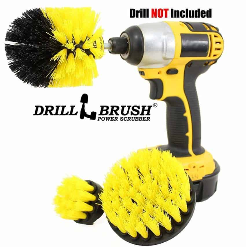 Image of Drillbrush Bathroom Surfaces Tub, Shower, Tile and Grout All Purpose Power Scrubber Cleaning Kit