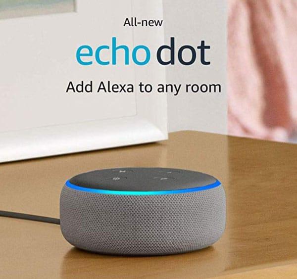 Echo dot on table
