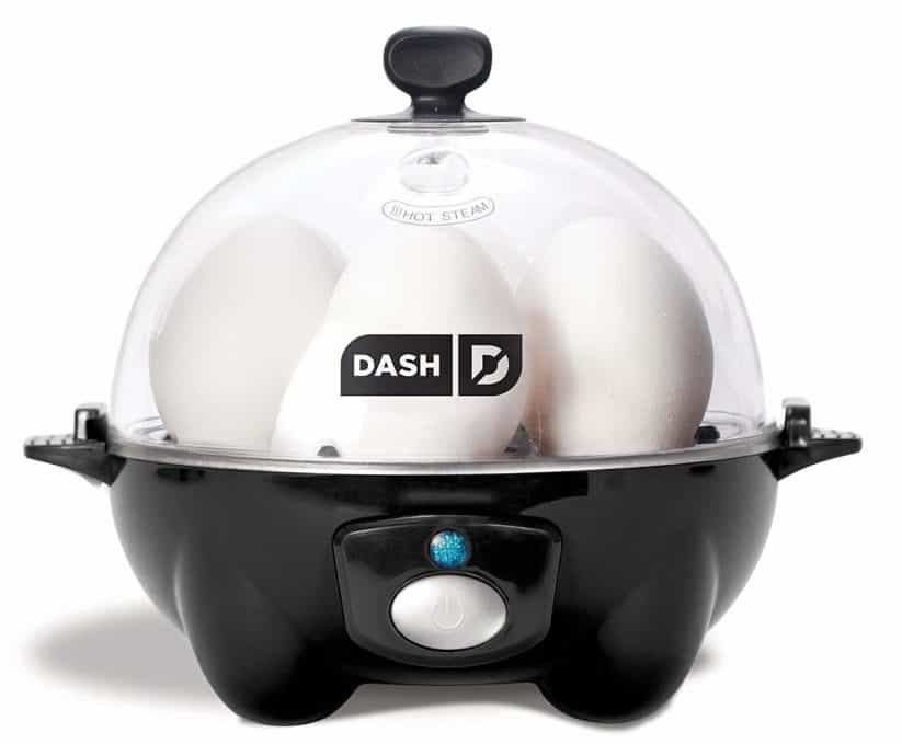 Image of Dash Rapid Egg Cooker: 6 Egg Capacity Electric Egg Cooker for Hard Boiled Eggs, Poached Eggs, Scrambled Eggs, or Omelets with Auto Shut Off Feature - Black