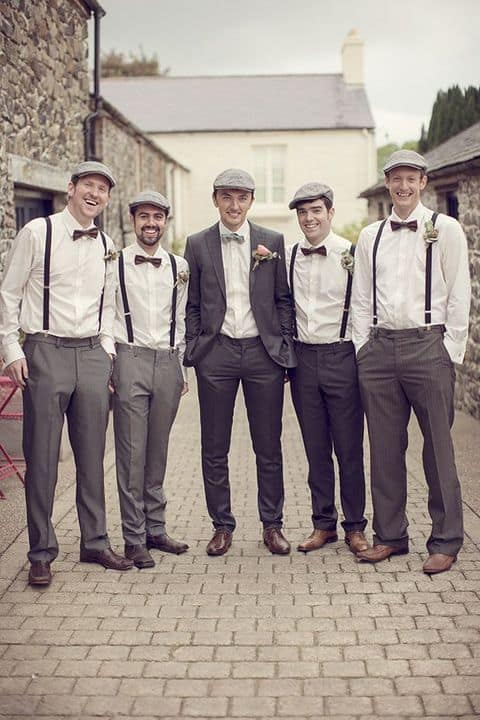 groomsmen wearing hats