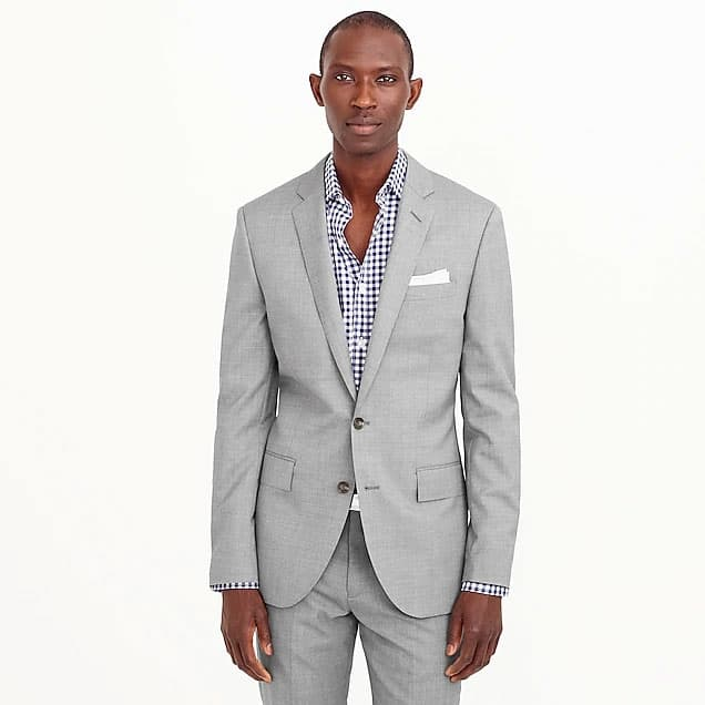 Image of J.Crew Ludlow suit jacket with double vent in Italian wool