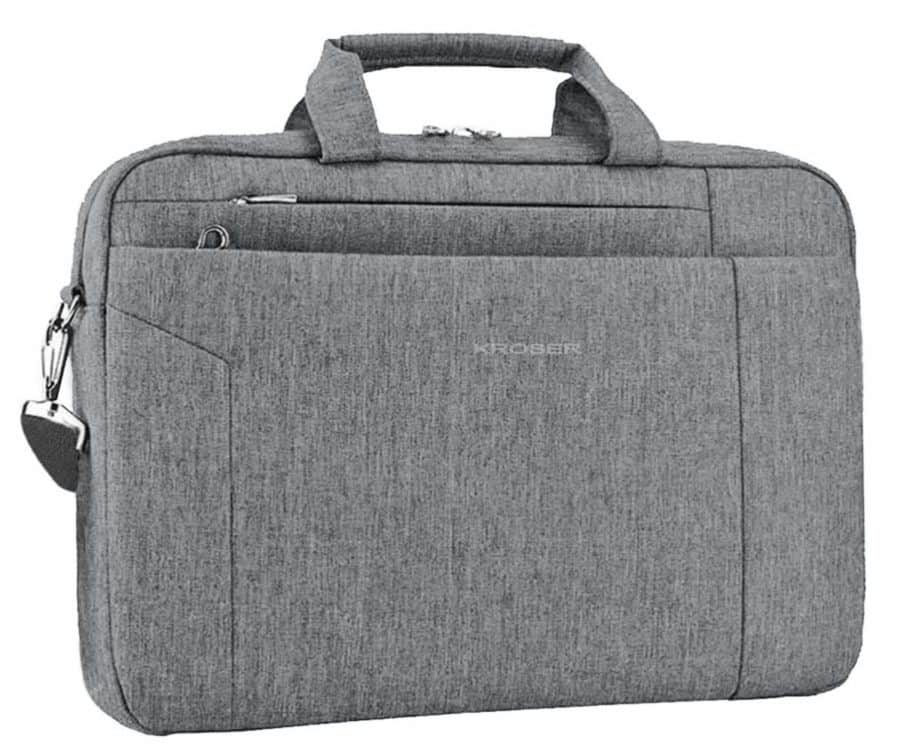gray cloth briefcase