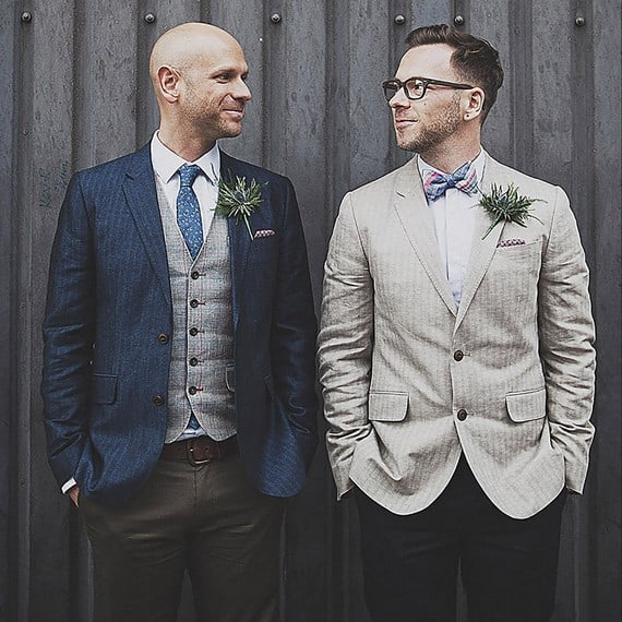 matching suit wedding ideas