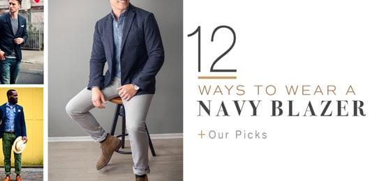 12 ways to wear a navy blazer