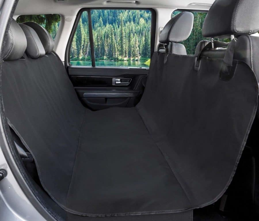 Image of BarksBar Original Pet Seat Cover for Cars - Black, WaterProof & Hammock Convertible