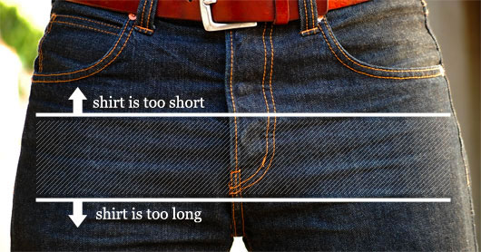 how long an untucked shirt should be