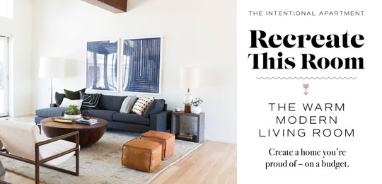 The Intentional Apartment: Recreate This Warm Modern Living Room