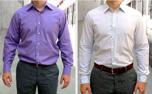baggy dress shirt vs fitted dress shirt