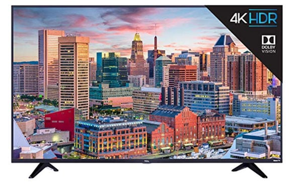 A TV with cityscape