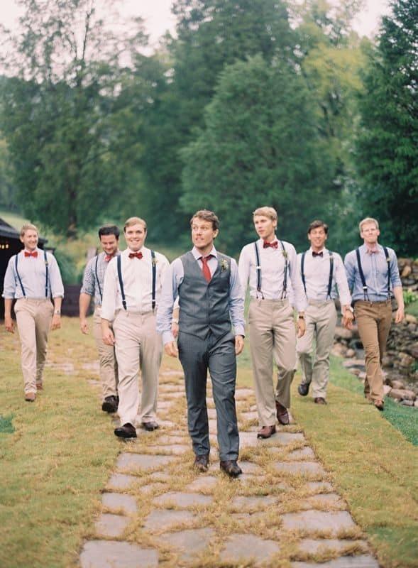 groomsmen bow tie vest