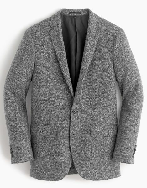 Image of Ludlow blazer in herringbone English tweed