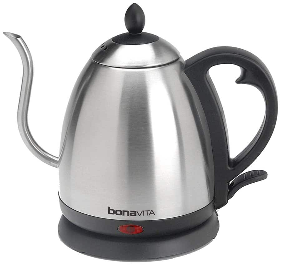 Image of Bonavita 1.0L Electric Kettle Featuring Gooseneck Spout, BV3825B