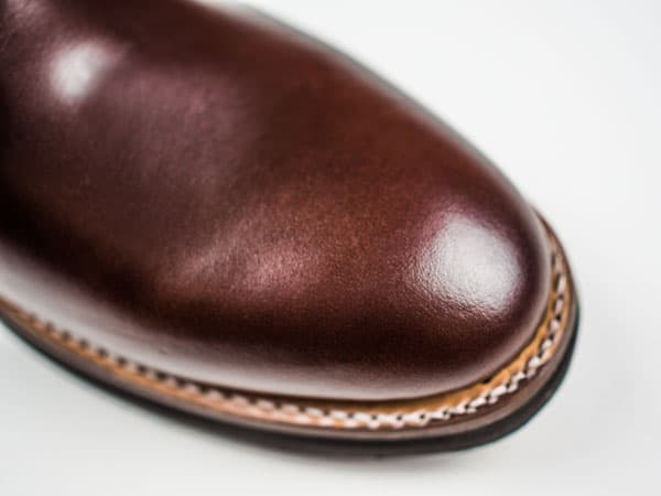 Closeup of brown boots