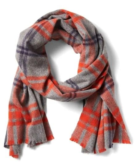 Image of Plaid Wool Scarf