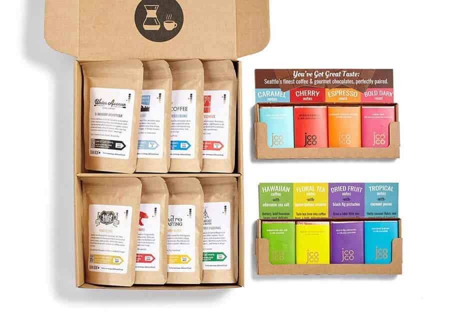 Image of Bean Box - Deluxe Coffee + Chocolate Gift Box - Whole Bean