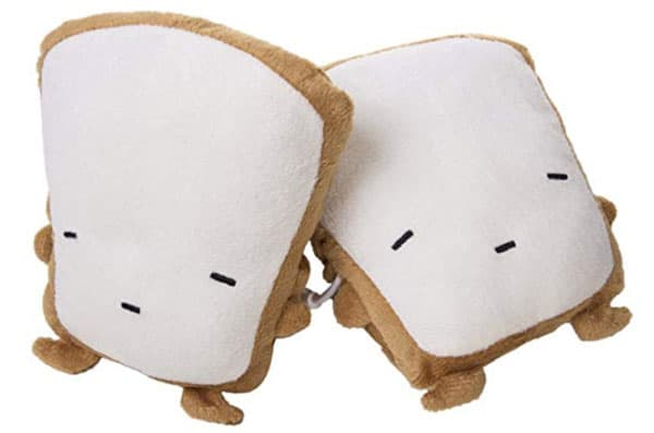 Image of Smoko Toast Hand Warmers, Fingerless Heated Typing Gloves, Plush Indoor No Finger Mittens