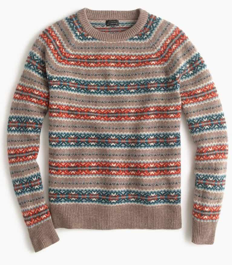 Image of Lambswool Fair Isle sweater in orange
