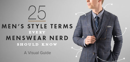 25 Men's Style Terms Every Menswear Nerd Should Know