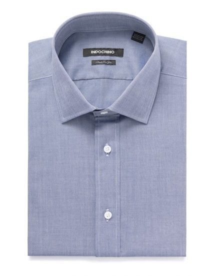 Image of WOODBRIDGE OXFORD NAVY SHIRT