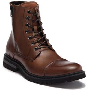 Image of Kenneth Cole Reaction Daxten Leather Lace Up Boot