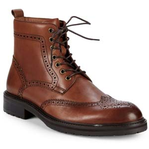 Image of Saks Fifth Avenue Arrezzo Wingtip Leather Ankle Boots
