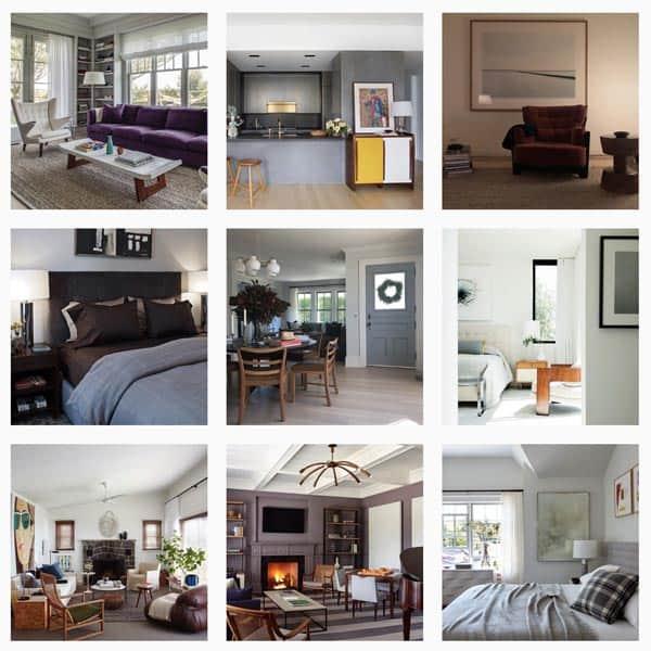 Interior decoration photo collage