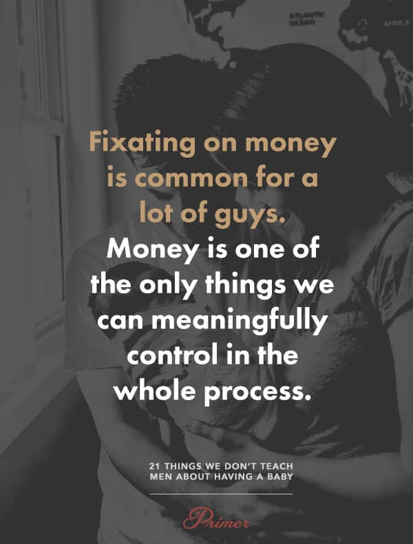 Fixating on money is common for a lot of guys