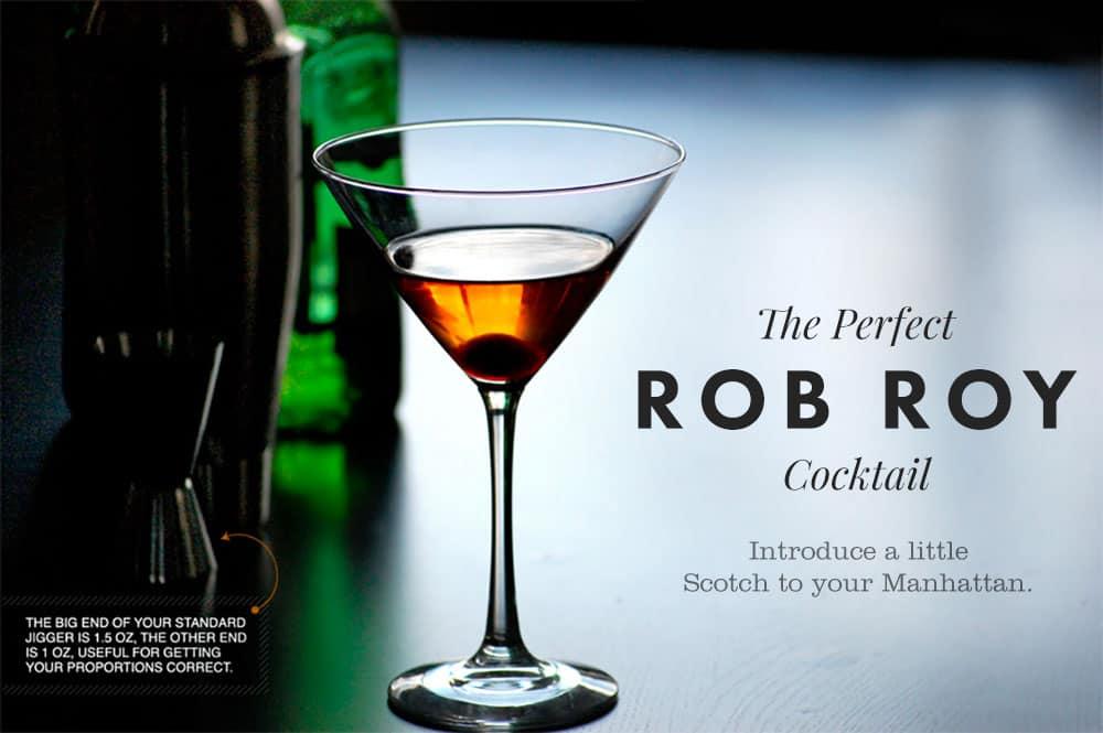 Perfect Rob Roy Cocktail Recipe - Scotch Manhattan
