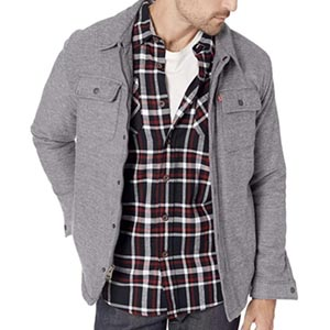 Image of Levi's Men's Sherpa Lined Soft Shirt Jacket