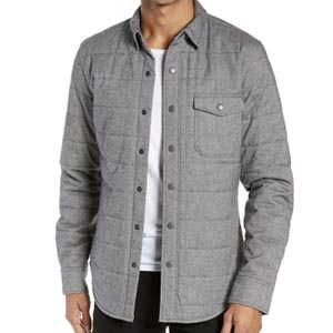 Image of Bonobos Quilted Herringbone Shirt Jacket