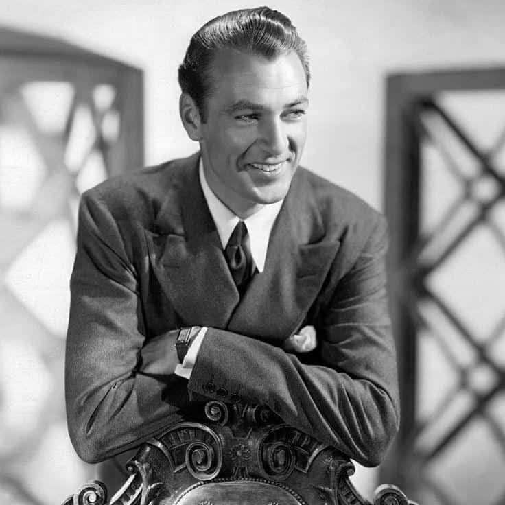 Image of Gary Cooper wearing his Cartier Tank