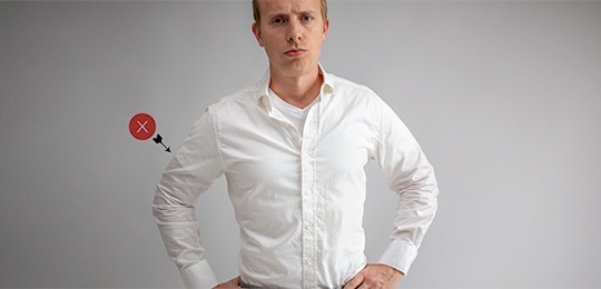 How To Stop Nipples And Undershirts From Showing Through A White Dress Shirt