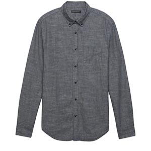 Image of Slim-Fit Chambray Shirt