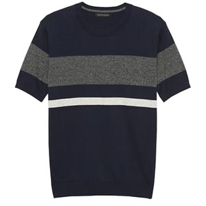 Image of Cotton Cashmere Short-Sleeve Sweater