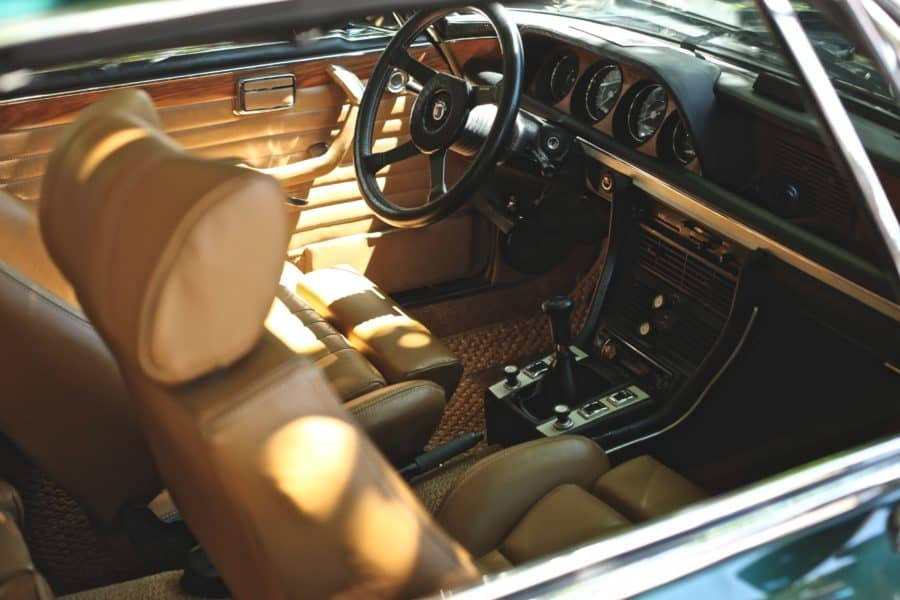 Image of vintage car interior photo by Sean Dubois