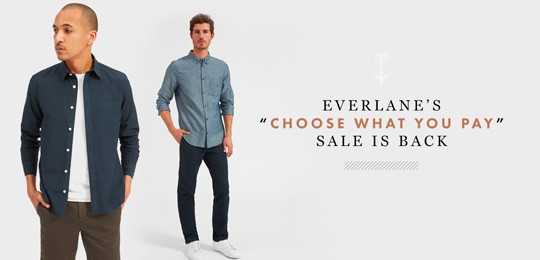 "Everlane's ""Choose What You Pay Sale"": This is Not a Drill"