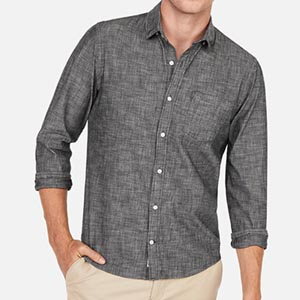 Image of Slim Soft Wash Chambray Button-Down Shirt
