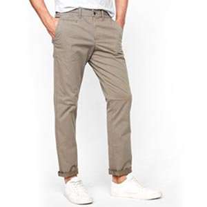 Image of Slim Garment Dyed Stretch Chino