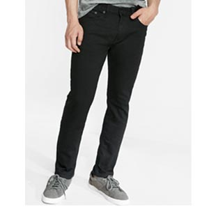 Image of Slim Black Stretch Jeans