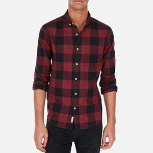 Image of Slim Plaid Soft Wash Button-Down Shirt