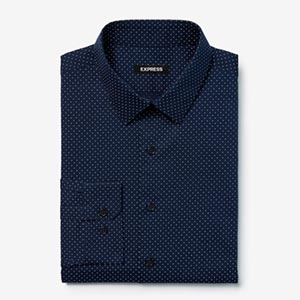 Image of Slim Dot Print Dress Shirt